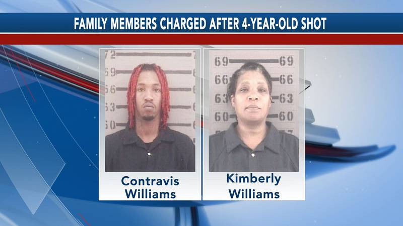 Contravis Williams, left, and Kimberly Williams, right, were both charged.