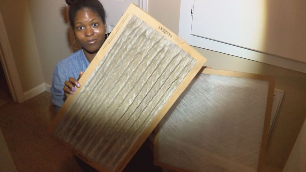 West recommends changing the air filter once a month (Source: WALB)