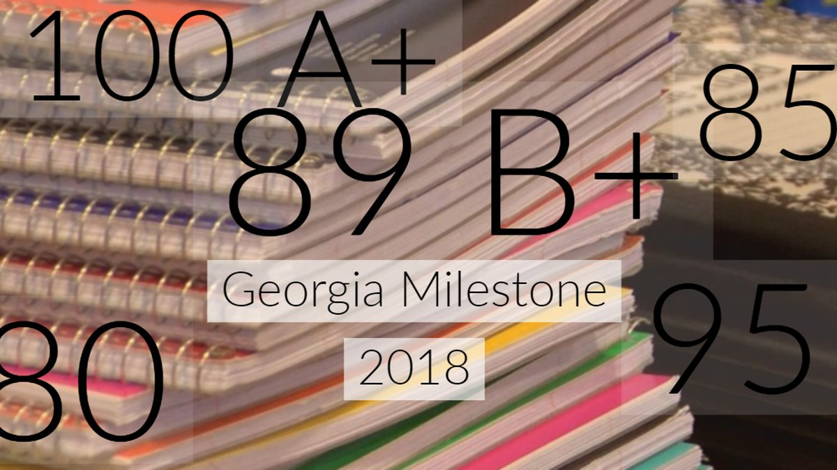 The Georgia Department of Education released test results of the Georgia Milestones for 2018...