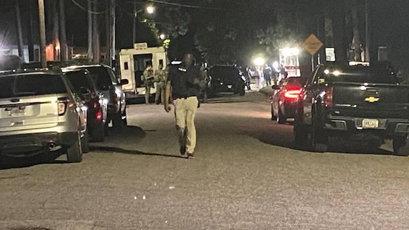 Scene of Albany standoff on June, 4, 2021.