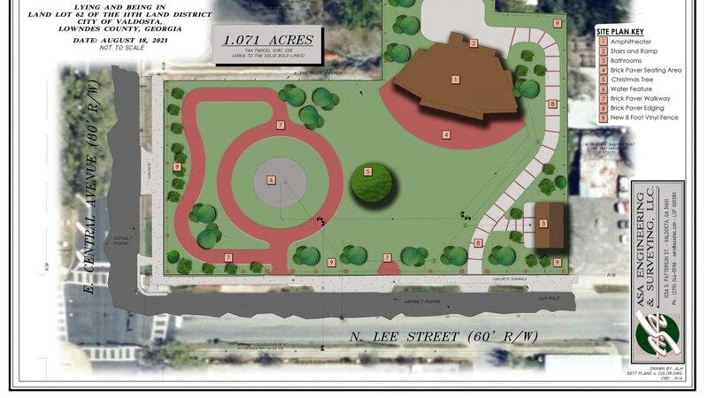Valdosta Amphitheater Park design.
