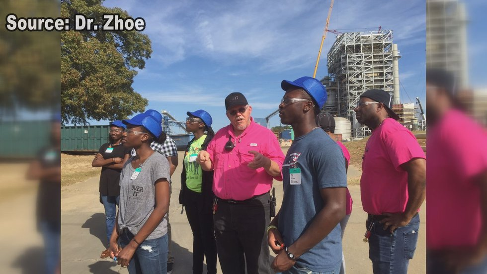 Students take a tour of the P& G facility in Albany. (Source:WALB)