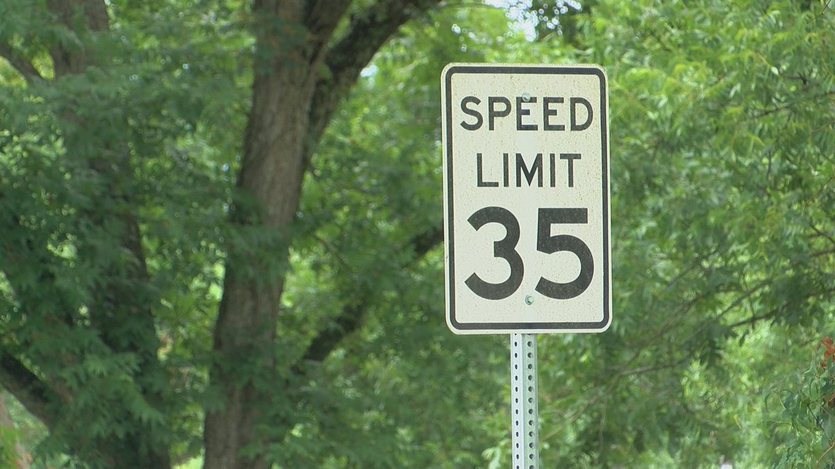 A speed limit sign in Lee County.
