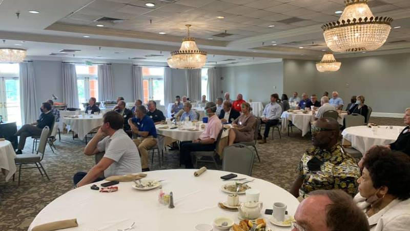 Albany Rotary Club members learning about community projects, business expansions and investors...
