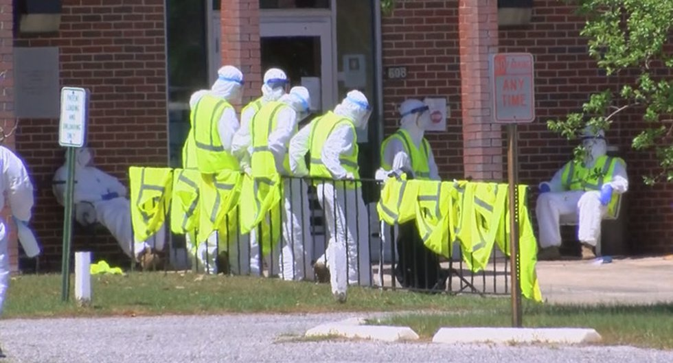 A South Georgia nursing home cleaning crew