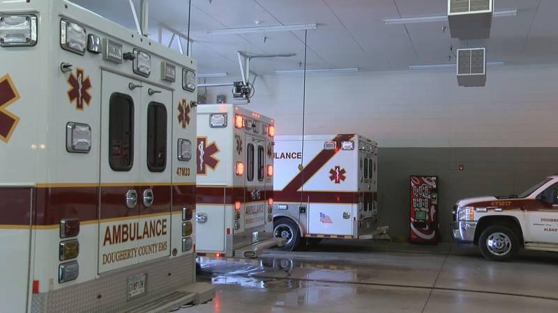 Dougherty County ambulances.