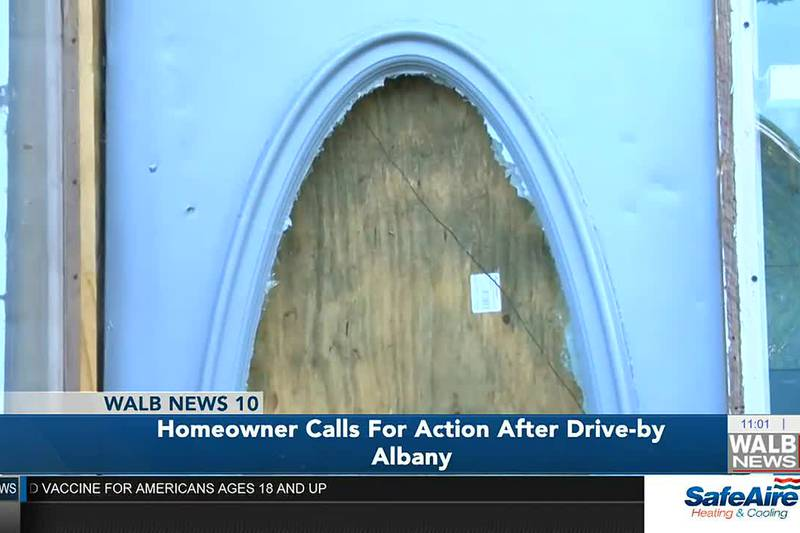 Albany homeowner calls for end to violence after drive-by shooting