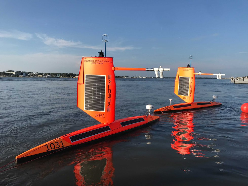 """These devices take sea surface and atmospheric measurements above the """"gliders"""""""