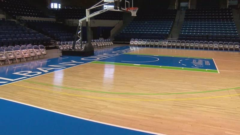 ALBANY CIVIC CENTER BASKETBALL COURT
