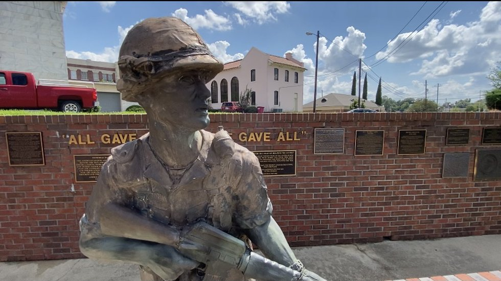 """Over the summer, Stone was honored with the renaming of Tifton's Veterans Park to """"Jack Stone..."""