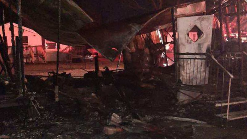 Albany mobile home fire on Dec. 29, 2020