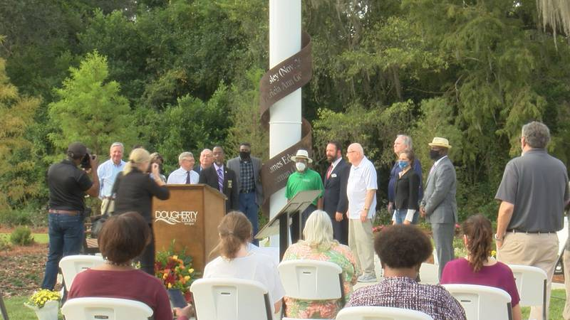 A new memorial was unveiled Thursday to honor the five people who died during a tornado in...