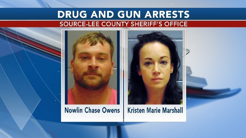 The two were arrested on gun and drug charges.