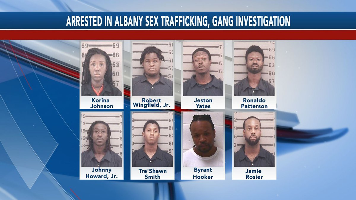 Eight people that were arrested in an Albany sex trafficking and gang investigation were...