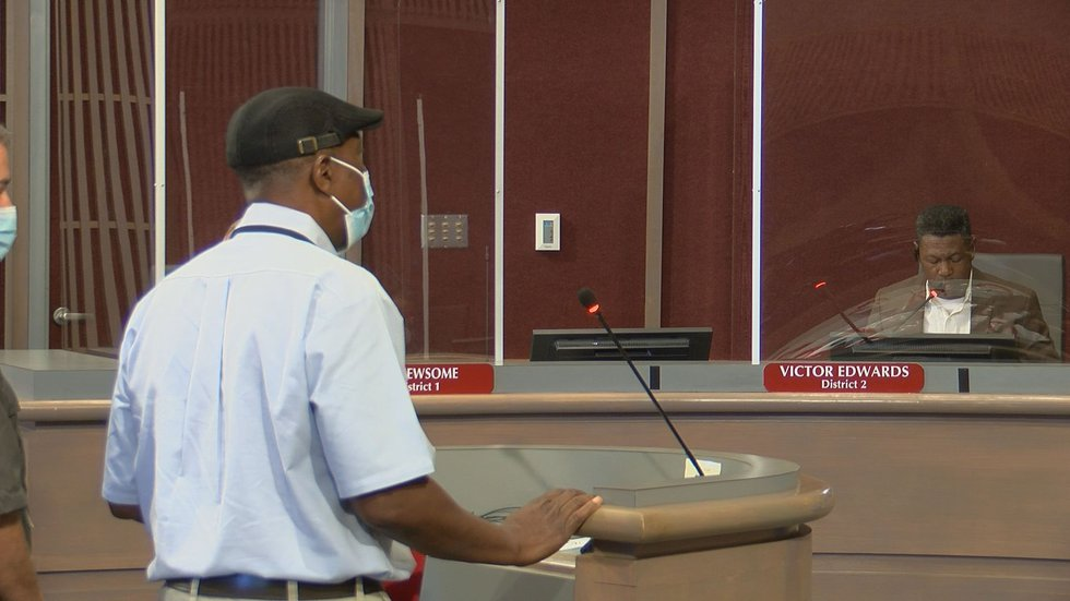 Public Works Director Chuck Mathis said the speed study was set up on the wrong side of the...