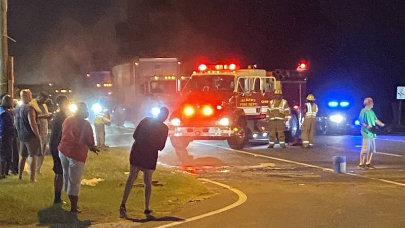 Scene of fatal wreck in Albany on Oct. 22, 2021