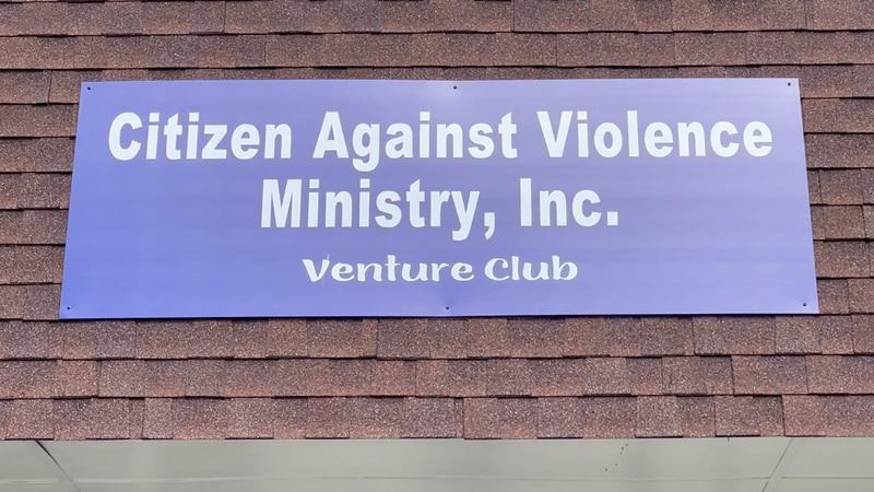 Citizen Against Violence ministry sign in Valdosta.