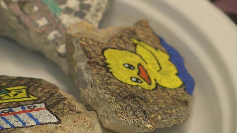 A painted rock is hidden in Sylvester every Tuesday and whoever finds it can turn it in for a...