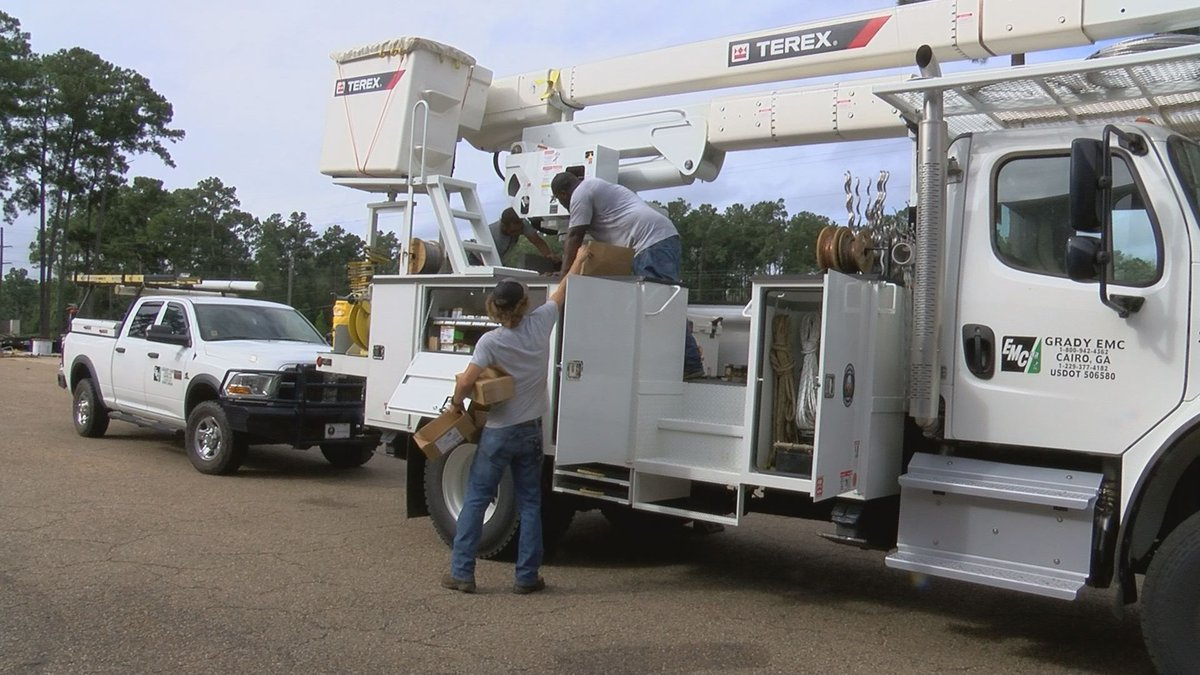 Grady Electric Membership Corporation crews complete final evaluations for trucks ahead of...