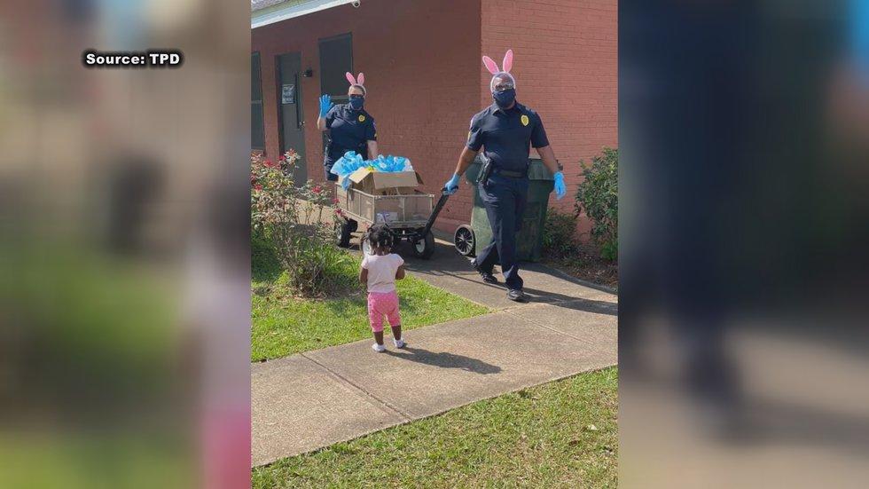 Thomasville Police Dept. Bringing Smiles to Community During Crisis