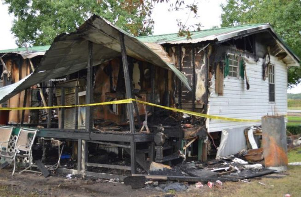 The fire damaged a 20-year-old mobile home on Warren Carter Road.