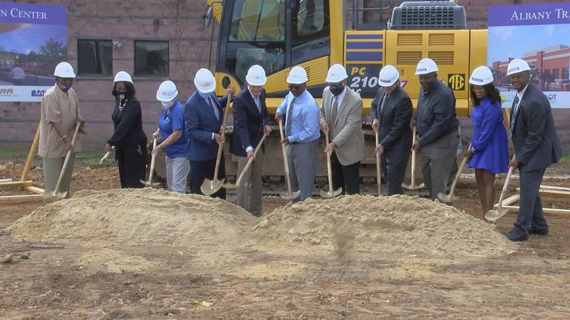 Albany leaders broke ground on the city's new transportation center on Monday.