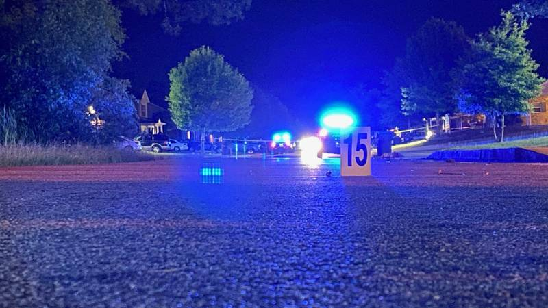 Albany police on the scene after a shooting on Hickory Lane on May 13, 2021.