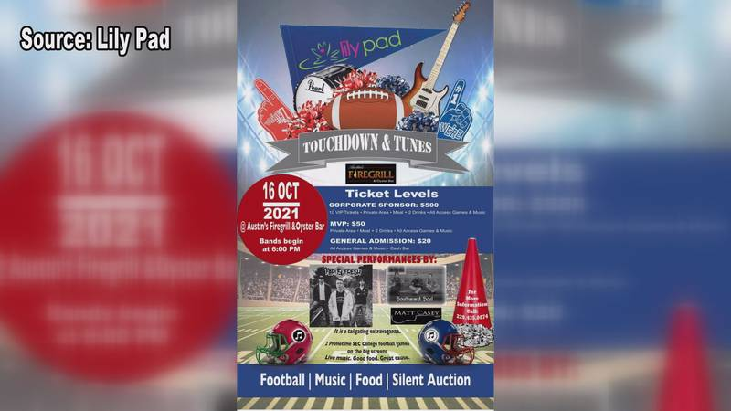 Touchdowns and Tunes starts at 6 p.m. on Saturday.