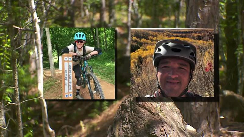 A mountain biker's life was saved by a doctor who happened to be on the same trail at the same...