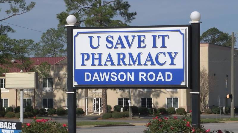 Pharmacy encouraging customers to use delivery service.
