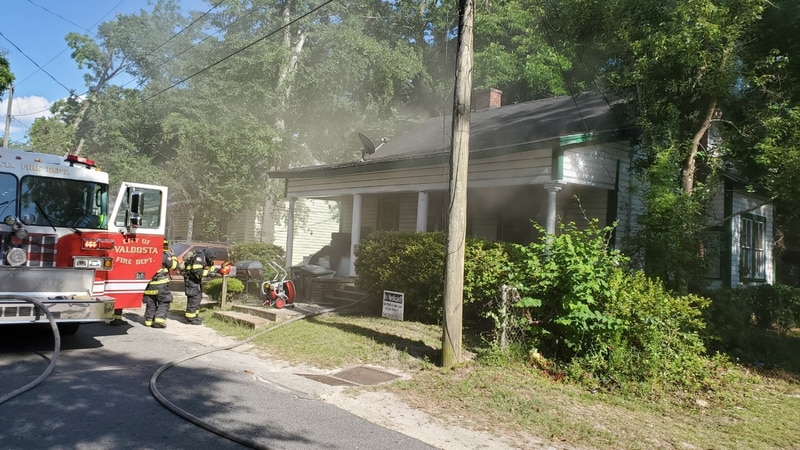 Valdosta Fire Department on the scene of a fire in the 900 block of W. Magnolia Street on May...