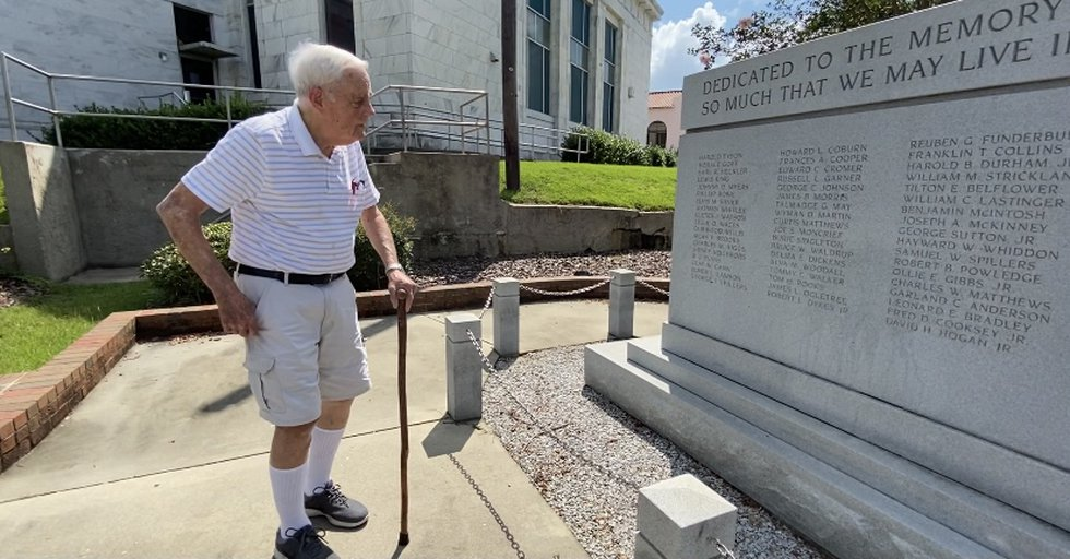 Stone helped design the monument which displays the name of military members from Tifton who...