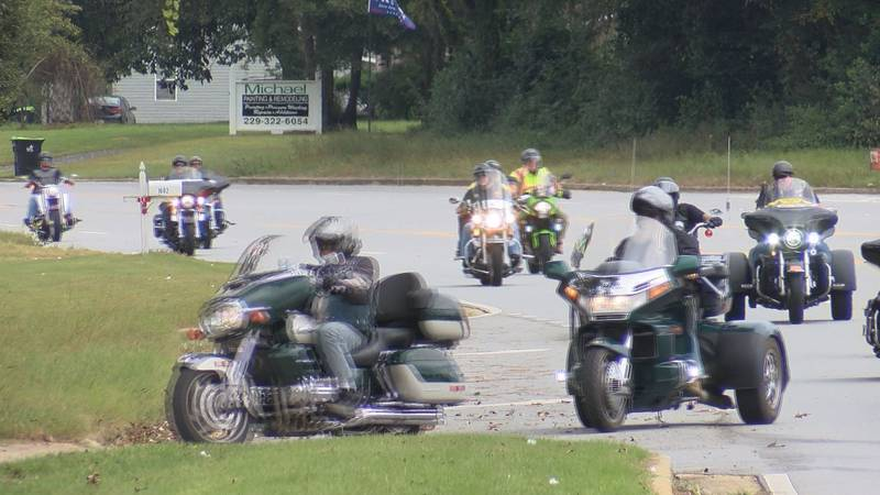 Over 20 motorcyclists met in Tifton today and rode to Albany to donate money for a cause.