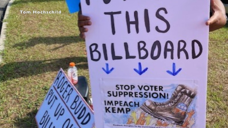 Group wants to be allowed to put up their billboard.