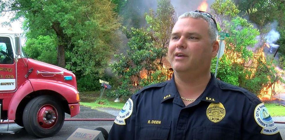 Bainbridge Public Safety holds training for firefighters