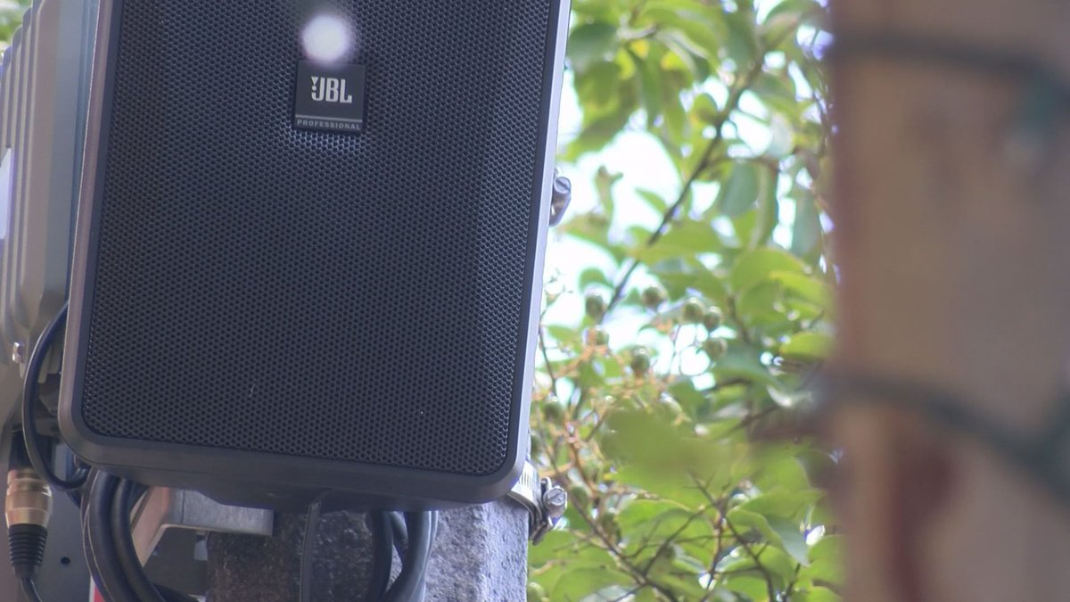 There are 10 sets of two speakers throughout downtown. (Source: WALB)