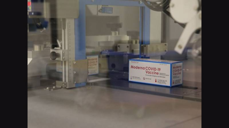Moderna vaccine being processed for use