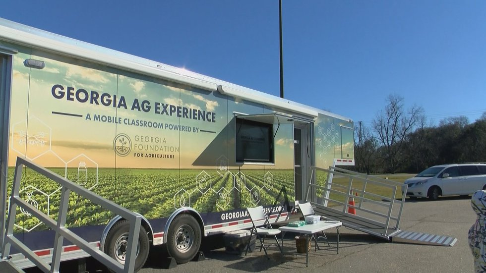 Mobile classroom travels to elementary schools in Georgia.