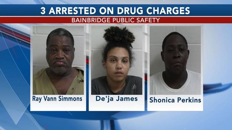 3 arrested on drug charges in Bainbridge