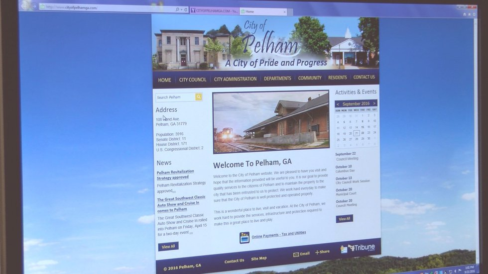 This is the correct website for residents to pay their utility bills. (Source: WALB )