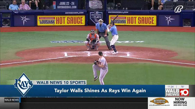 Crisp County native Taylor Walls shines as the Tampa Bay Rays win