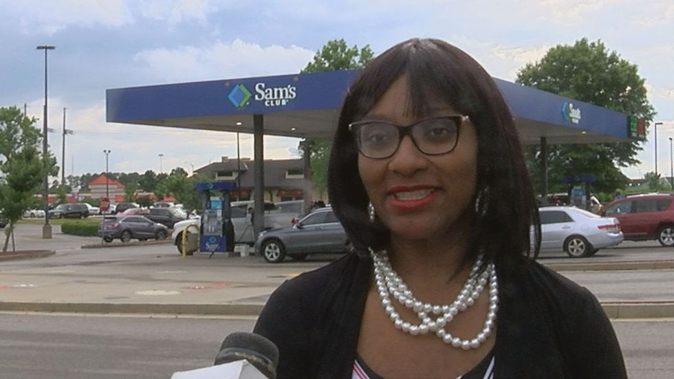 Crystal Merrell-Calhoun, customer at gas station in Albany