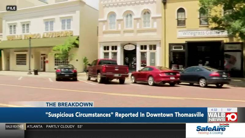 The Breakdown: 'Suspicious Circumstances' Reported in Downtown Thomasville