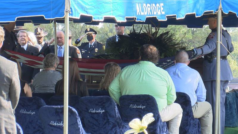Sumter County Sheriff Pete Smith was laid to rest Sunday in the community he served for over...