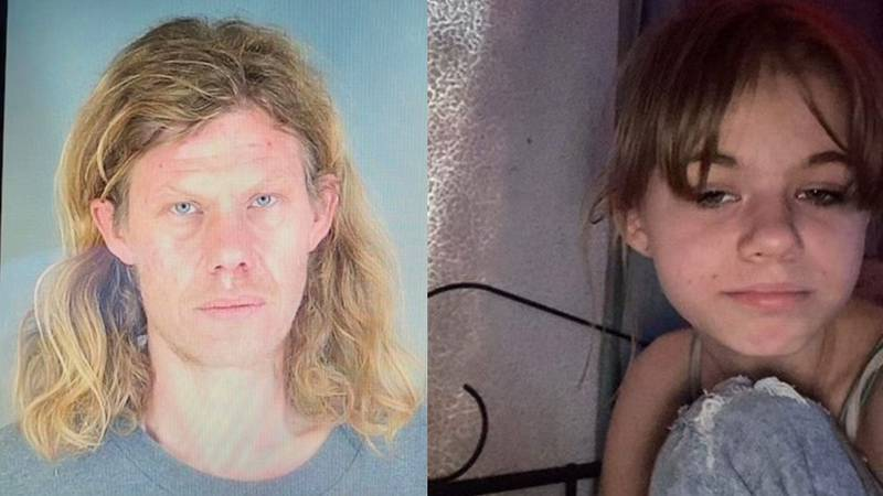 Abductor David Henderson is pictured on the left and the missing girl, Allison Henderson, is...