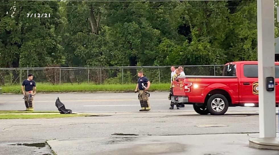 Four Valdosta first responders injured after down power pole.