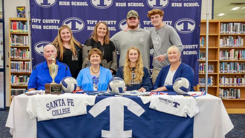 Cali Conner signs Tift County's first-ever volleyball scholarship