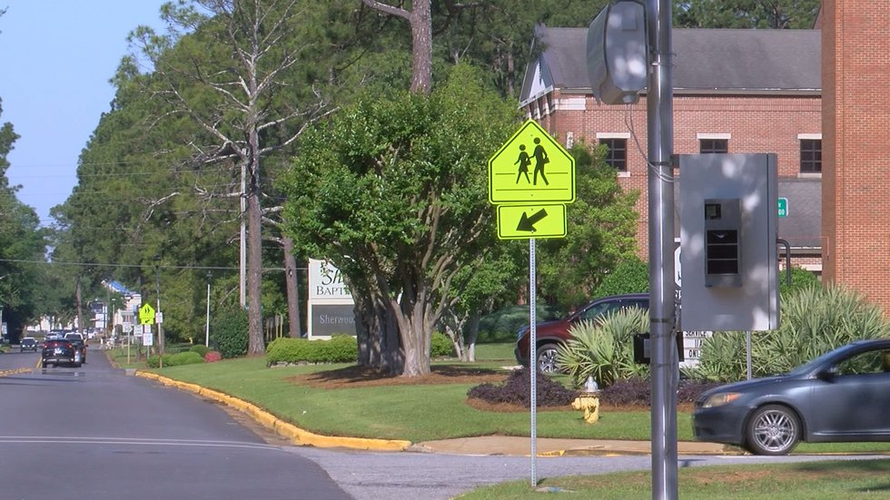 The Sherwood School zone