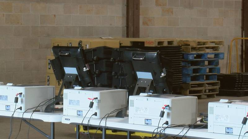 The machines are being tested in the warehouse behind Northside Library in Albany.