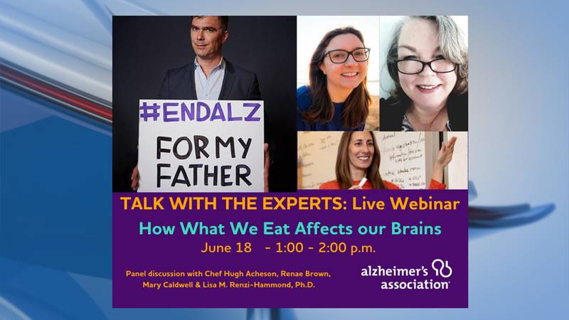 A webinar about the connection to nutrition and diet and overall brain health is set for...